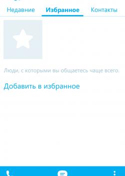 Избранное в Skype